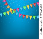 festive background color flags. ... | Shutterstock .eps vector #202261600