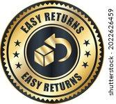 easy returns vector logo. trust ... | Shutterstock .eps vector #2022626459