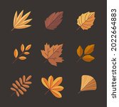 autumn leaves collection....   Shutterstock .eps vector #2022664883