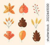 autumn leaves collection....   Shutterstock .eps vector #2022665030