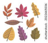 autumn leaves collection....   Shutterstock .eps vector #2022665036