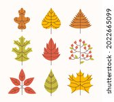 autumn leaves collection.... | Shutterstock .eps vector #2022665099