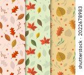 autumn leaves pattern. autumn... | Shutterstock .eps vector #2022678983