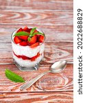 delicious natural dessert with...   Shutterstock . vector #2022688829