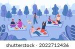 happy people spending time on...   Shutterstock .eps vector #2022712436