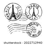 Postal Vintage Stamps Paris  ...