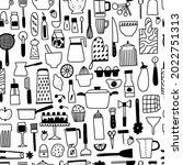 kichen utencils and cutlery... | Shutterstock .eps vector #2022751313