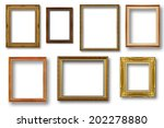 set of golden vintage frame... | Shutterstock . vector #202278880