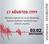 yalova  17 august   1999 great...   Shutterstock .eps vector #2022801950