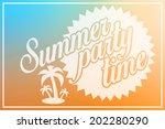 retro summer party design... | Shutterstock . vector #202280290