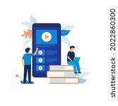 illustration concept of online... | Shutterstock .eps vector #2022860300