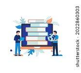 illustration concept of online... | Shutterstock .eps vector #2022860303