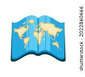 world map in atlas book icon... | Shutterstock .eps vector #2022860666