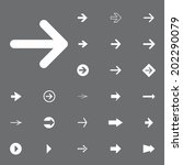 arrow sign vector icon set.... | Shutterstock .eps vector #202290079
