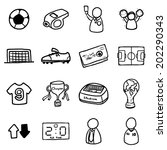soccer or football icons set  ... | Shutterstock .eps vector #202290343