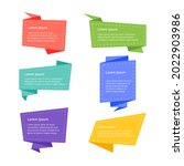 a collection of banner template ...   Shutterstock .eps vector #2022903986