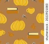autumn leaf fall pattern ...   Shutterstock .eps vector #2022921083