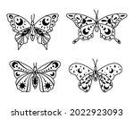 mystical boho celestial... | Shutterstock .eps vector #2022923093