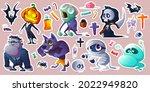 halloween stickers with... | Shutterstock .eps vector #2022949820