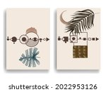 poster with various geometrical ... | Shutterstock .eps vector #2022953126
