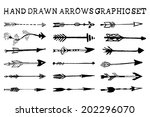 hand drawn arrows graphic set | Shutterstock .eps vector #202296070