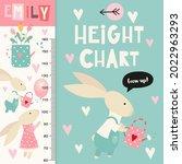 kids height chart with cute...   Shutterstock .eps vector #2022963293