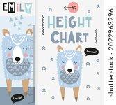 kids height chart with cute...   Shutterstock .eps vector #2022963296