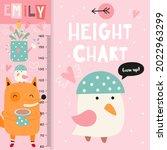 kids height chart with cute...   Shutterstock .eps vector #2022963299