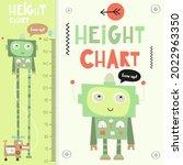 kids height chart with cute...   Shutterstock .eps vector #2022963350