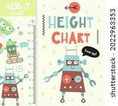 kids height measurement with...   Shutterstock .eps vector #2022963353