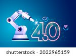 concept of industry 4.0 or...   Shutterstock .eps vector #2022965159