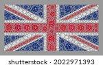 mosaic united kingdom flag... | Shutterstock .eps vector #2022971393