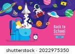 back to school  book... | Shutterstock .eps vector #2022975350