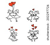 hand drawing cartoon concept... | Shutterstock .eps vector #202297726