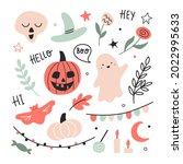 happy halloween childish set...   Shutterstock .eps vector #2022995633