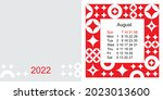 fashionable desktop calendar...   Shutterstock .eps vector #2023013600