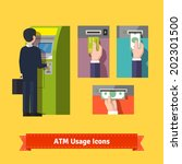 Atm Machine Money Deposit And...