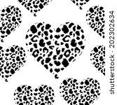 leopard skin texture pattern.... | Shutterstock .eps vector #202302634
