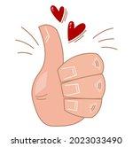 thumb up   symbol. positive... | Shutterstock .eps vector #2023033490
