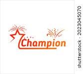champion victory celebration... | Shutterstock .eps vector #2023045070