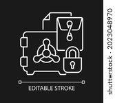 trade secrets white linear icon ... | Shutterstock .eps vector #2023048970