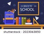 back to school background.... | Shutterstock .eps vector #2023063850