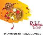 happy raksha bandhan with...   Shutterstock .eps vector #2023069889