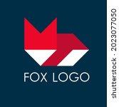fox modern geometric logo ...   Shutterstock .eps vector #2023077050
