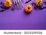 Halloween flat lay composition...