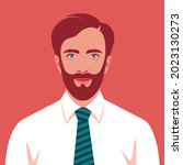 portrait of a happy brown... | Shutterstock .eps vector #2023130273