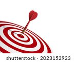 red dart hit to center of...   Shutterstock .eps vector #2023152923