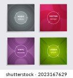 vintage plate music album... | Shutterstock .eps vector #2023167629