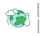 climate action color icon....