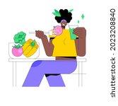 raw veganism abstract concept... | Shutterstock .eps vector #2023208840